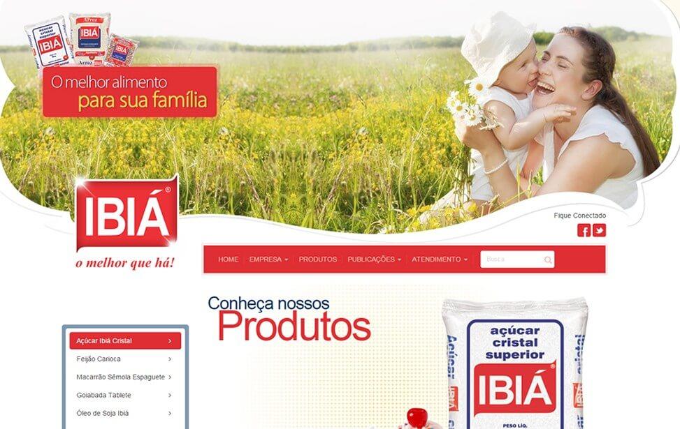 Criação de site - IBIA Distribuidora de Alimentos