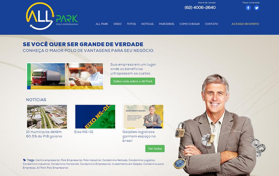 Criação de site - All Park Polo Empresarial