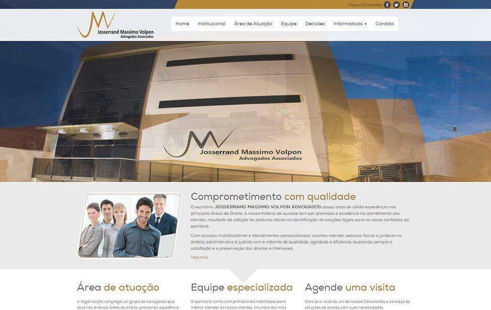 Criação de site - Josserrand Massimo Volpon Advogados