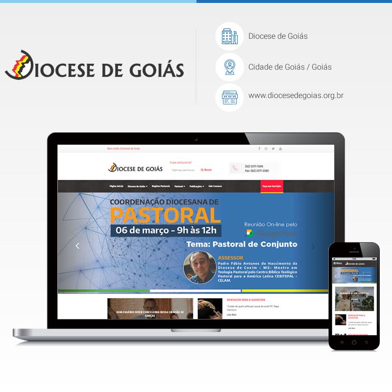 Criação de site - Diocese de Goiás