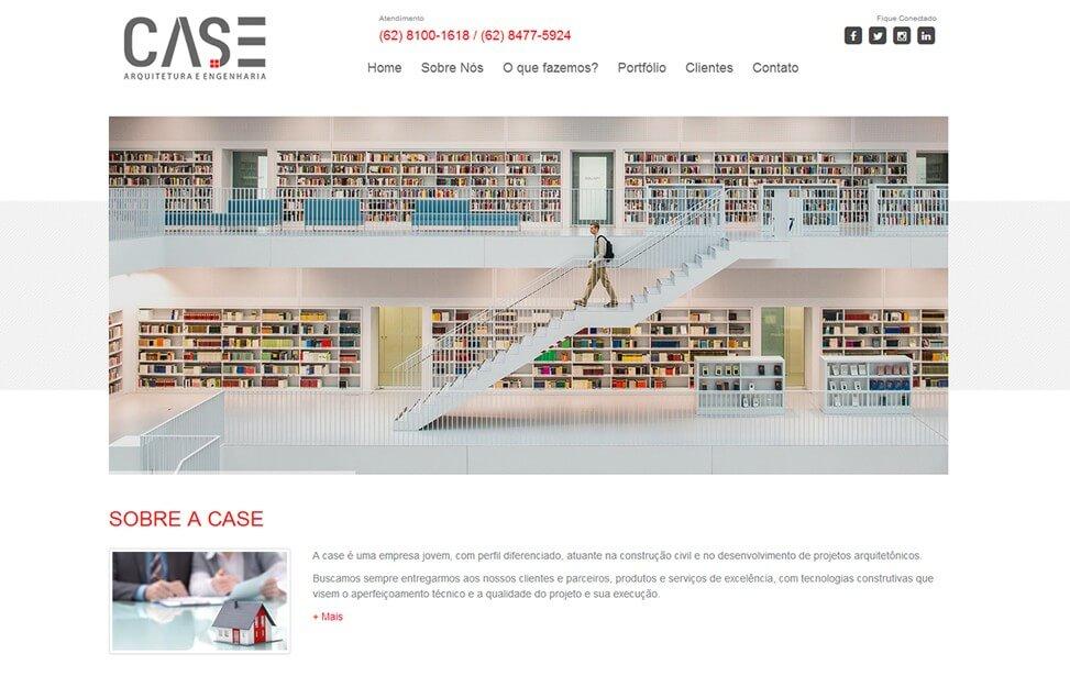 Criação de site - CASE Arquitetura e Engenharia