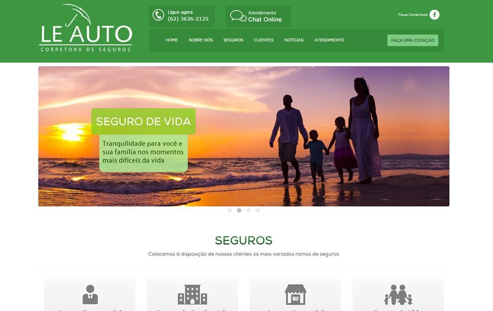 Criação de site - Leauto Corretora de Seguros