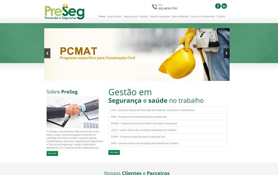 Criação de site - PRESEG Consultoria
