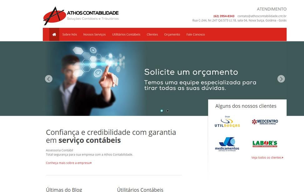 Criação de site - Athos Contabilidade