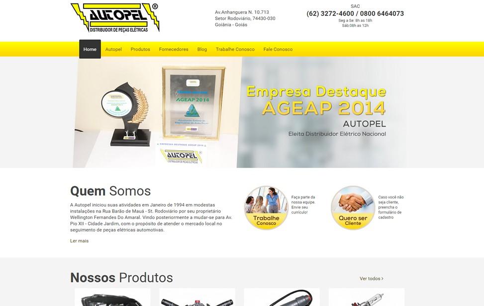 Criação de site - AUTOPEL Distribuidor de Peças Elétricas