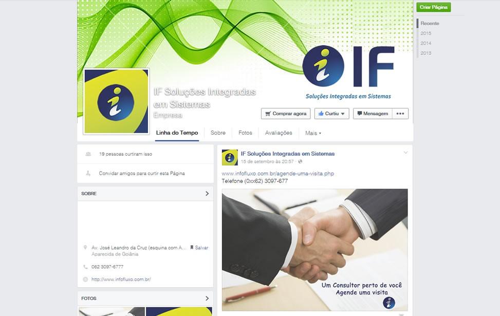 Criação de site - FanPage InfoFluxo Soluções Integradas em Sistemas