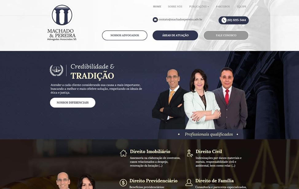 Criação de site - Machado e Pereira Advogados Associados