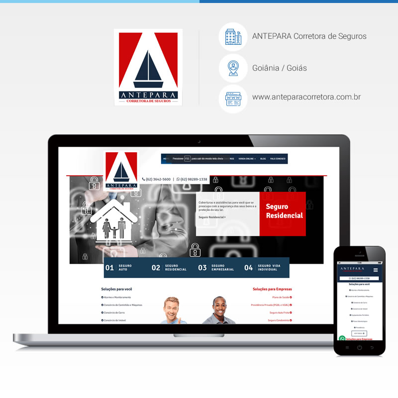 Criação de site - ANTEPARA Corretora de Seguros