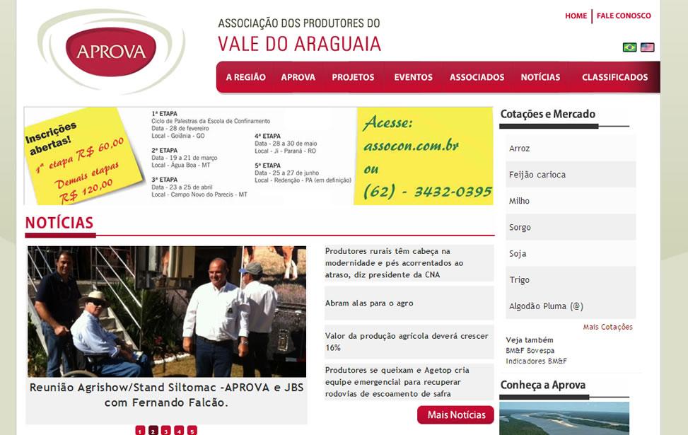 Criação de site - Associação dos Produtores do Vale do Araguaia
