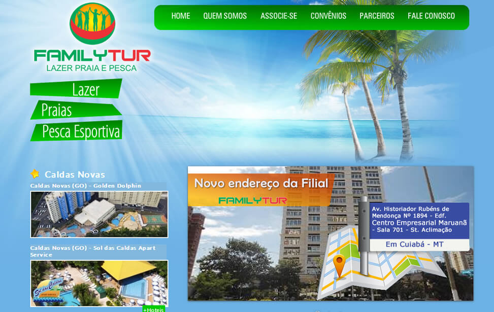 Criação de site - FamilyTur - Lazer, Praia e Pesca