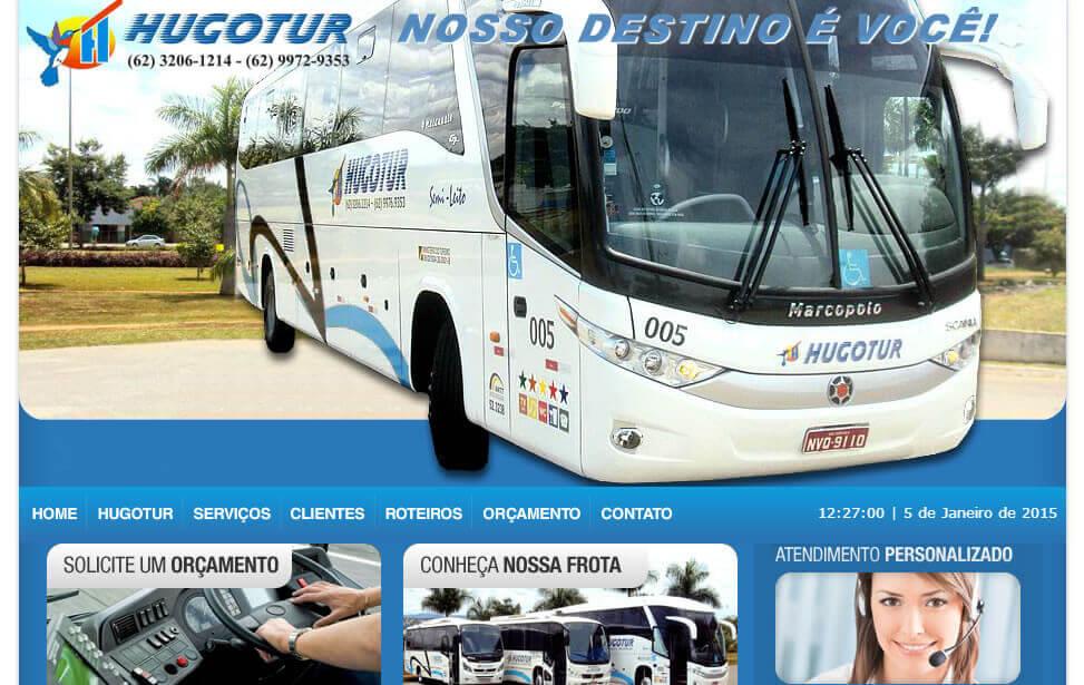 Criação de site - HugoTur Agência de Turismo