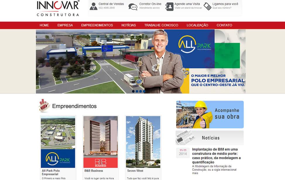 Criação de site - Innovar Construtora