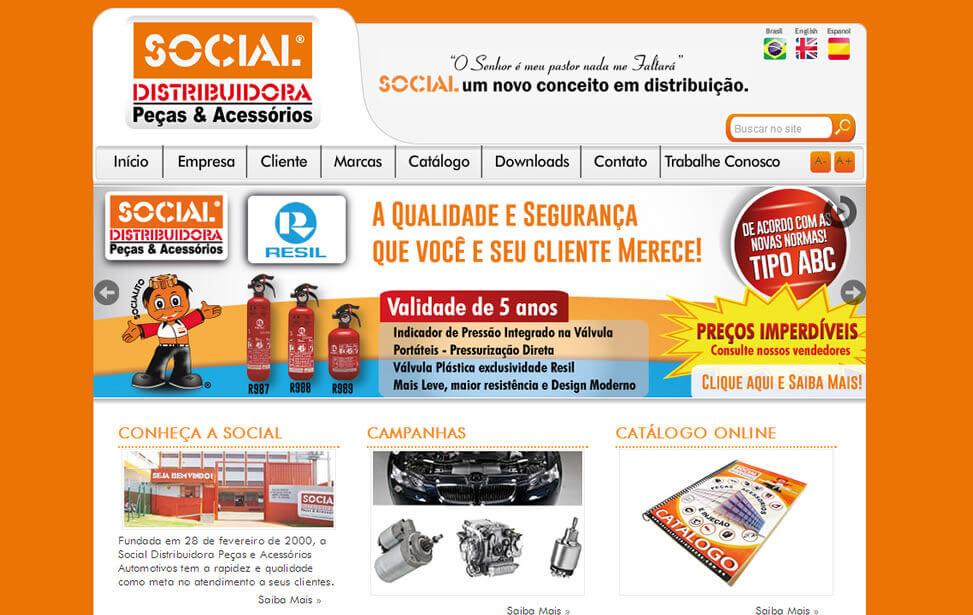 Criação de site - Social Distribuidora