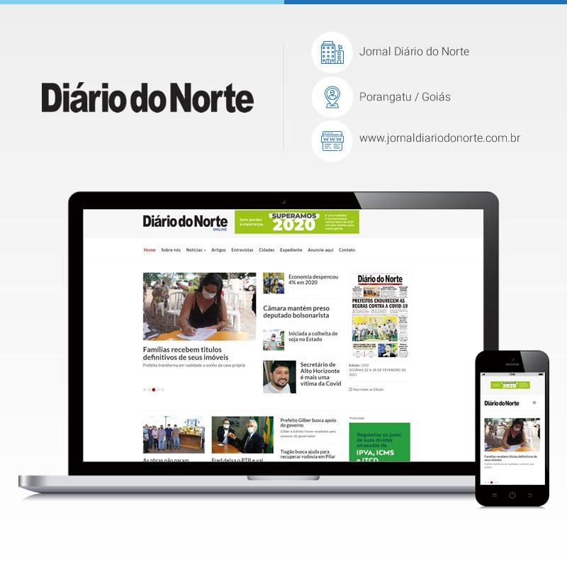 Criação de site - Jornal Diário do Norte