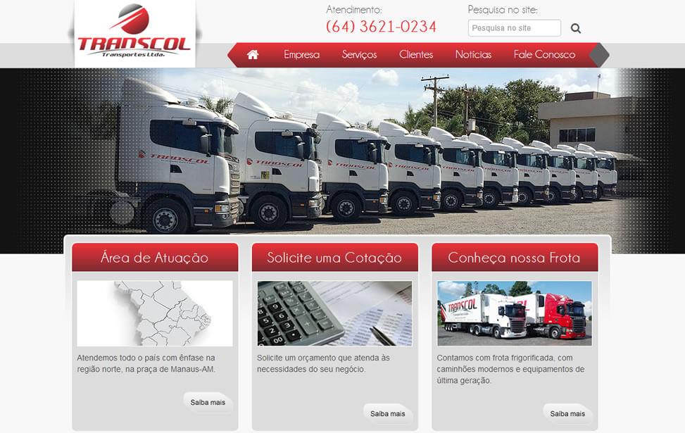 Criação de site - Transcol Transportes